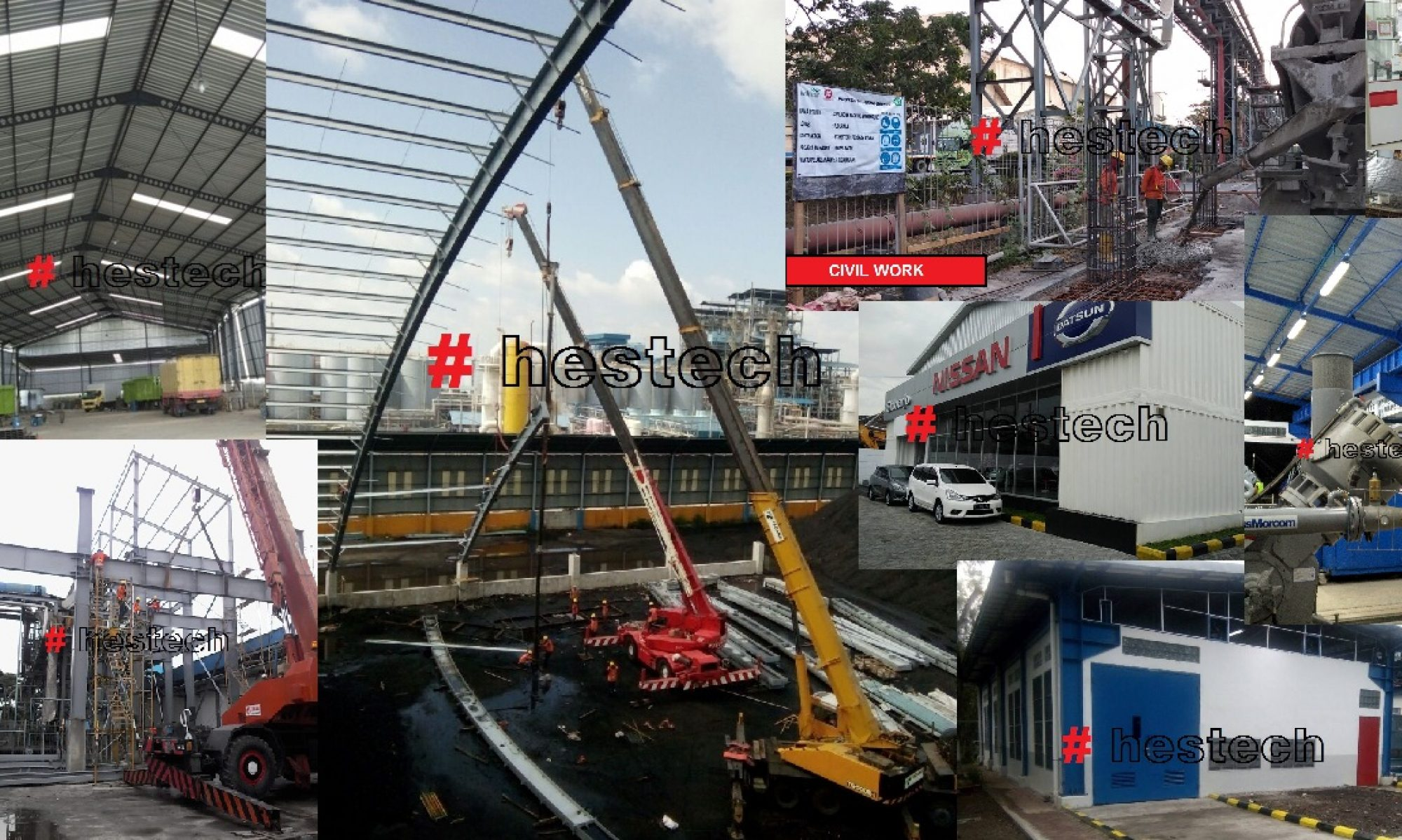 PT Hestech Persada Utama | Engineering Civil & Steel Structure Contractor